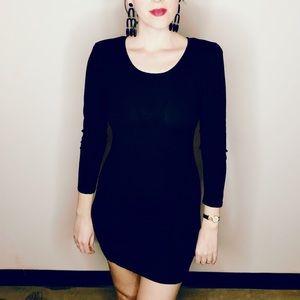 Theory wool black knit mini sweater dress